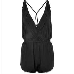 TOPSHOP | Black Romper / Swim Cover Up